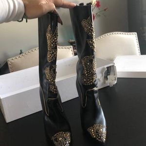 Versace black boots
